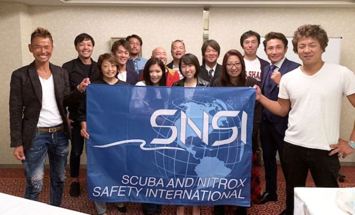 SNSI (Scuba and Nitrox Safety International) の皆さん